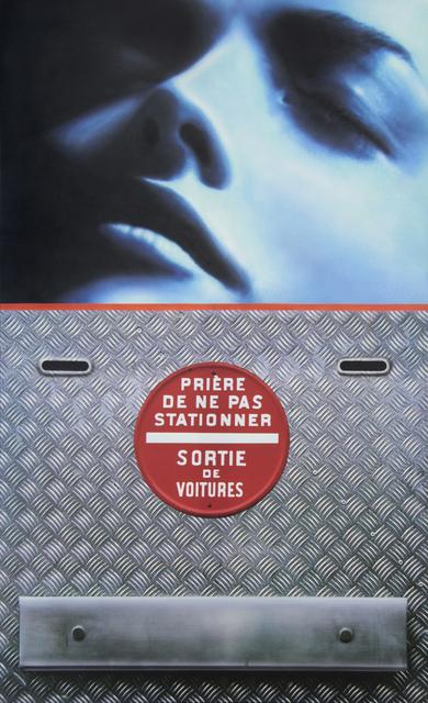 , 'visage bleu/sortie de voitures - 2 bouches d'aération ,' 2009, Galerie Laurent Strouk