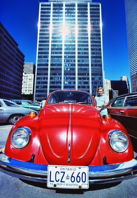Mitchell Funk, 'Red Volkswagen Beetle  in Toronto', 1974, Robert Funk Fine Art