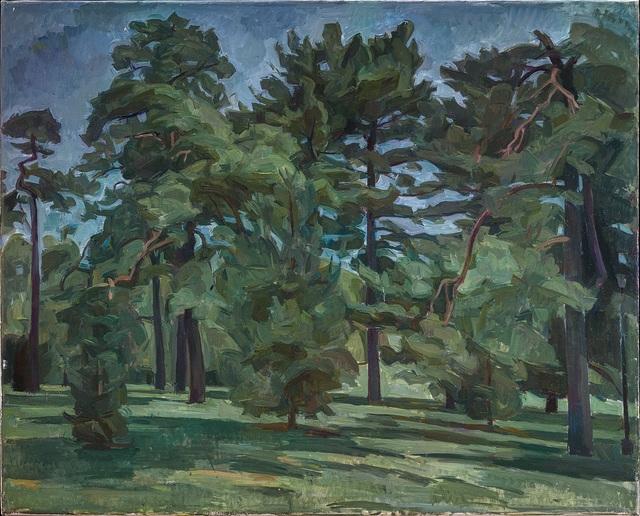 , 'Pine Trees in Loose Park XIV,' 2012, New York Studio School