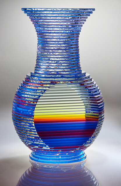 , '2 Views of Blue / Red Color Motion, Middy Solid Vase Form,' 2016, Chesterfield Gallery