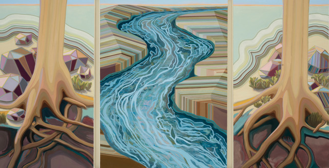 April Dawn Parker, 'Thirst Drove me Down the River (triptych)', 2019, Painting, Oil on Linen, Andra Norris Gallery