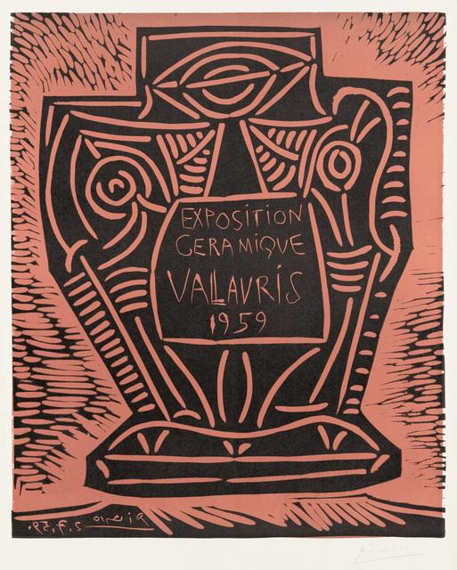 Pablo Picasso, 'Exposition Céramique Vallauris', 1959, Christopher-Clark Fine Art