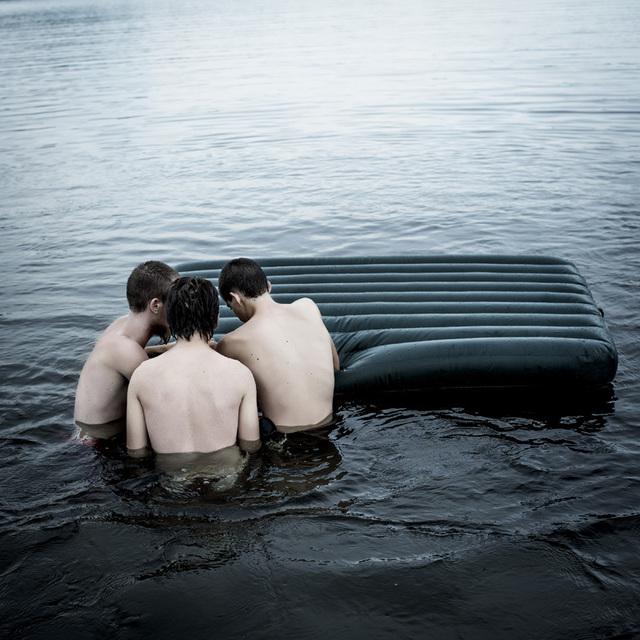 , 'Three Boys, Lake, Maine,' 2016, Robert Mann Gallery