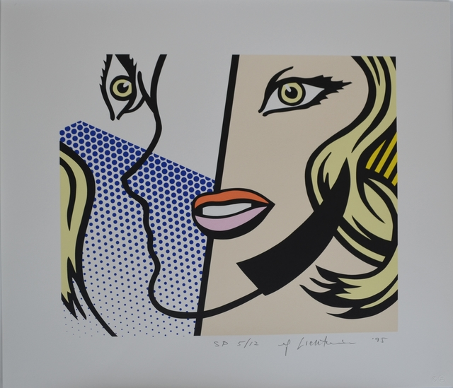 Roy Lichtenstein, 'Untitled Head', 1995, Print, Screenprint on Lanaquarelle watercolor paper, Long-Sharp Gallery