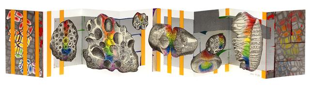Dianna Frid, 'El Prisma en tus Manos', 2015, Print, Color lithograph/aluminum leaf/chine collé, Shark's Ink.