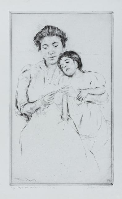 Mary Cassatt, 'The Crocheting Lesson', 1902, Forum Auctions