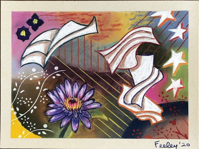 Hank Feeley, 'Ivanovsky's Dream', 2020, Drawing, Collage or other Work on Paper, Pastel on Paper, First Street Gallery