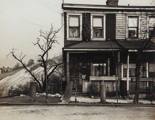 , 'Untitled (rowhouse with hill in background),' 1930-1943, L. Parker Stephenson Photographs