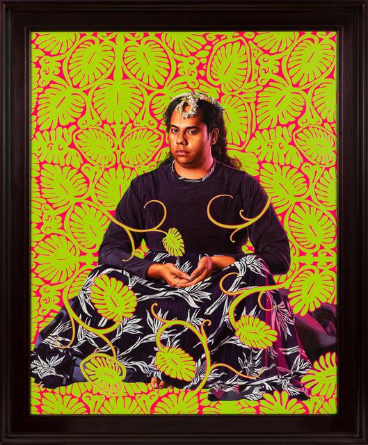 Kehinde Wiley, 'Portrait of Tahiatua Maraetefau II', 2019, Templon