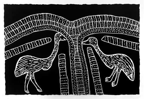 , 'Two Karnanganyja - Two Emus,' , Rebecca Hossack Art Gallery