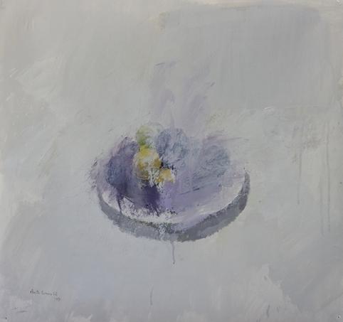 """, '""""Plato con ciruelas negras y amarillas"""",' 2017, Sala Parés"""