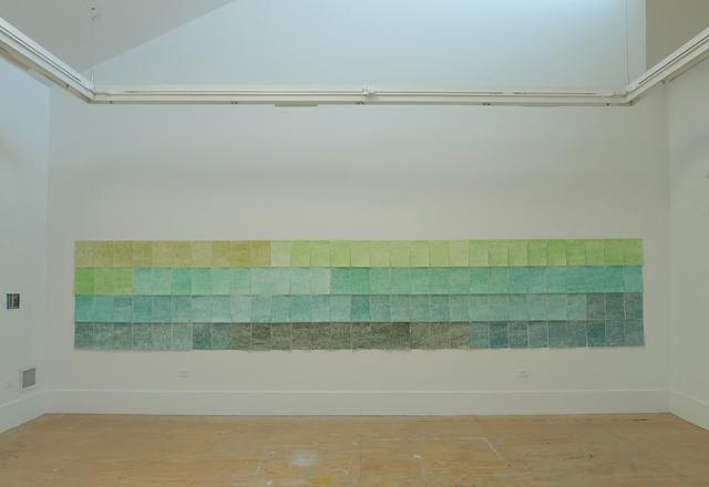 , 'Caja de 120 lápices de colores - Verde,' 2017, Espacio Mínimo