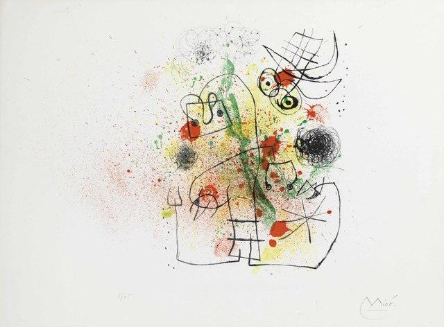 Joan Miró, 'Femme et Oiseau dans la Tourmente', 1967, Maune Contemporary