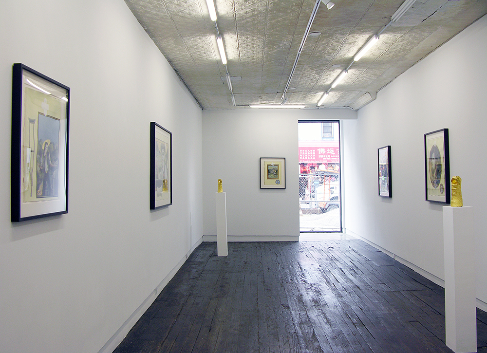 Installation view of 'Lenz' by Russell Nachman at LMAKgallery, NY