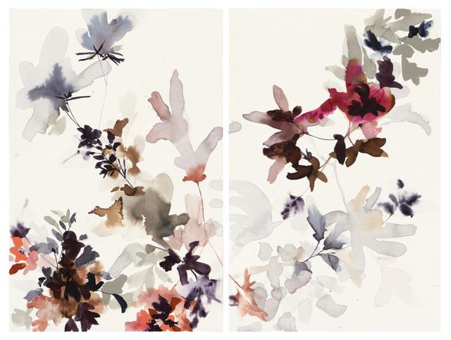 , 'Wildflowers Lilac and Smoke 3 A & B,' 2018, Wally Workman Gallery