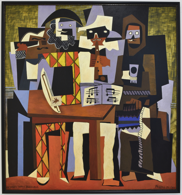 Dick Frizzell, 'Picasso's Three Musicians', 2020, Painting, Oil on canvas, Gow Langsford Gallery