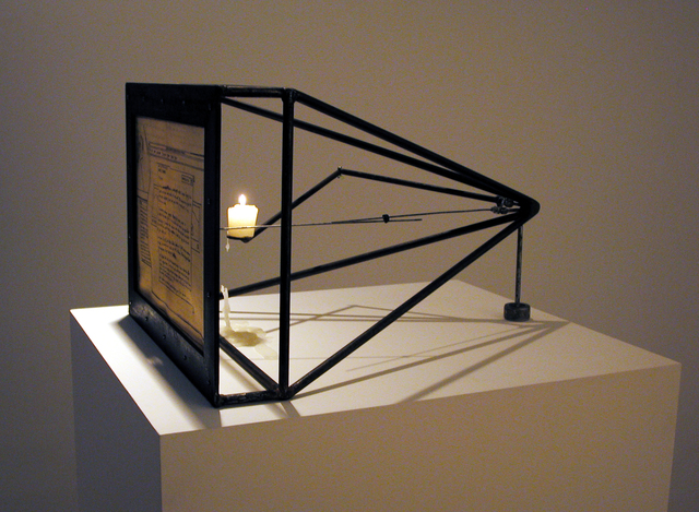 Yael Kanarek, 'Feedback-Loop', 2004, Sculpture, Steel, hand drawn ink on parchment, bitforms gallery