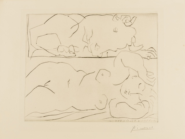 Pablo Picasso, 'Minotaure Contemplant Amoureusement Une Dormeuse (Bloch 261)', 1933, Forum Auctions