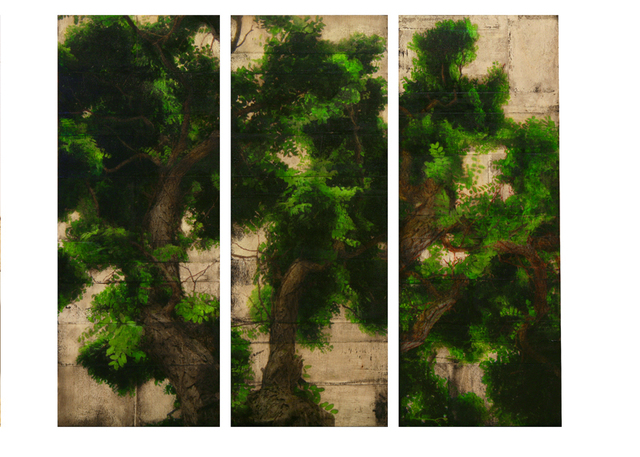 Per Fronth, 'Wood Study triptych', 2008, Painting, Dillon + Lee