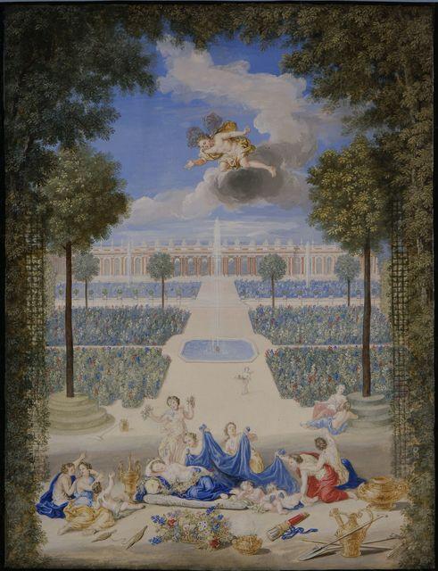 , 'Vue des parterres du Grand Trianon avec Flore et Zephyr (View of the Grand Trianon with Flora and Zephyr),' 1687, Château de Versailles