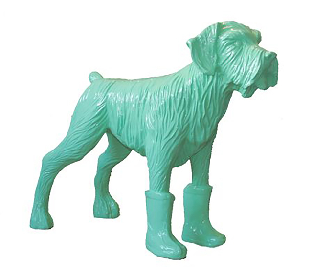 William Sweetlove, 'Cloned pistachio dog with plastic boots', 2008, Sculpture, Resin, Kunzt Gallery