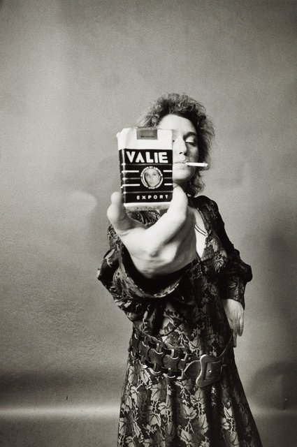 , 'VALIE EXPORT - SMART EXPORT. Selbstportrait mit Zigarette [VALIE EXPORT - SMART EXPORT. Self-portrait with cigarette kit],' 1968, Richard Saltoun