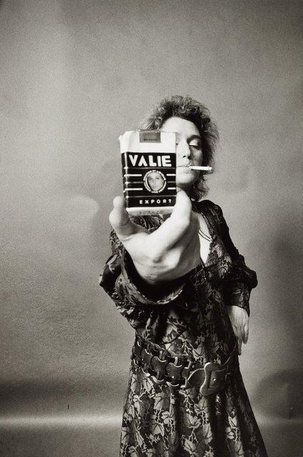 , 'VALIE EXPORT - SMART EXPORT. Selbstportrait mit Zigarette [VALIE EXPORT - SMART EXPORT. Self-portrait with cigarette kit],' 1968, Richard Saltoun