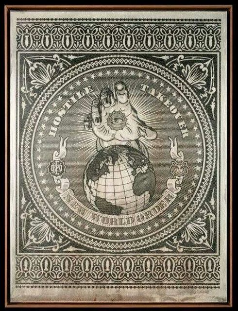 Shepard Fairey (OBEY), 'Hostile Takeover', 2007, Jonathan LeVine Projects