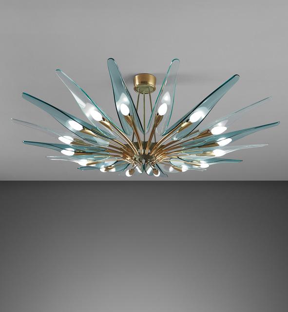 "Max Ingrand, '""Dahlia"" ceiling light, model no. 1563', circa 1958, Phillips"