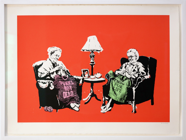 , 'Grannies Hand Sprayed HP signed,' 2006, Galerie Kronsbein