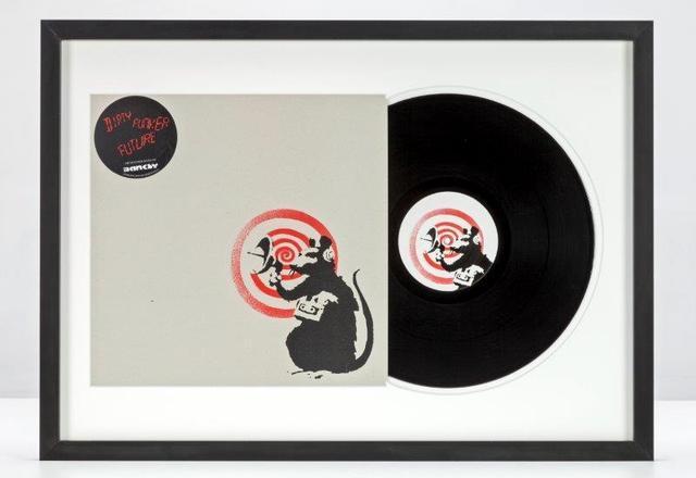 Banksy, 'Dirty Funker - Future (Radar Rat) Red edition on white', Print, Screenprint on vinyl sleeve with sticker and vinyl record, NextStreet Gallery
