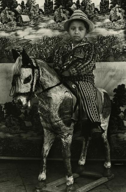 , 'Boy astride papier-mache horse, Solola,' ca. 1970, Deborah Bell Photographs