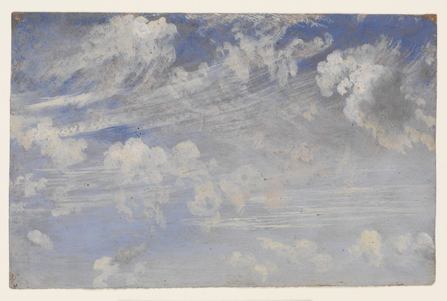 , 'Study of cirrus clouds,' ca. 1821-1822, Victoria and Albert Museum (V&A)
