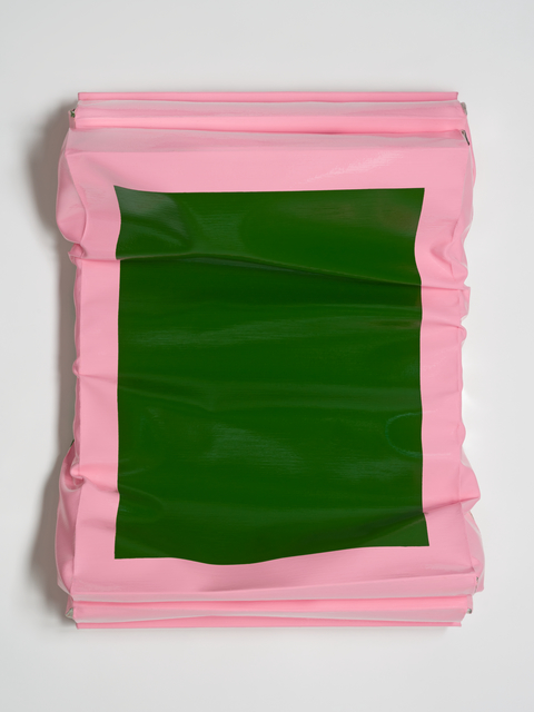 Angela de la Cruz, 'Layers - Small (Sap Green/Brilliant Pink)', 2019, Galerie Thomas Schulte