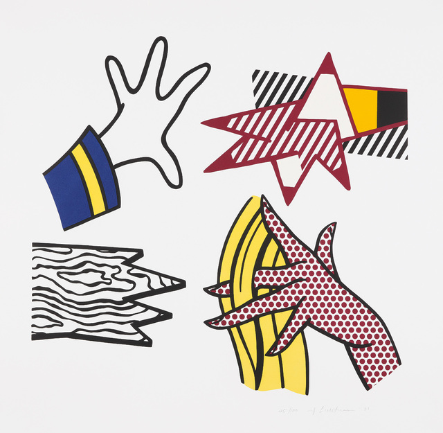 Roy Lichtenstein, 'Study of Hands', 1981, Print, Lithograph and screenprint in colors, on wove paper, with full margins., Phillips