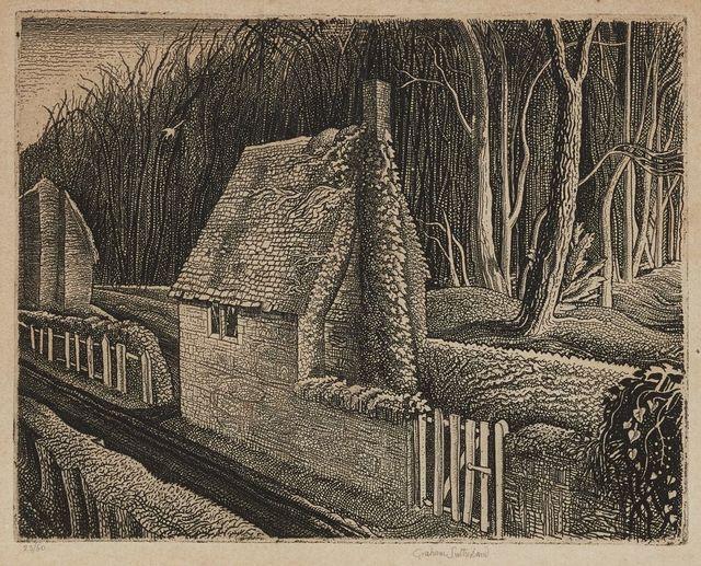 Graham Sutherland, 'Cottage in Dorset, Wood End [Tassi 28]', 1929, Print, Etching on laid, Roseberys