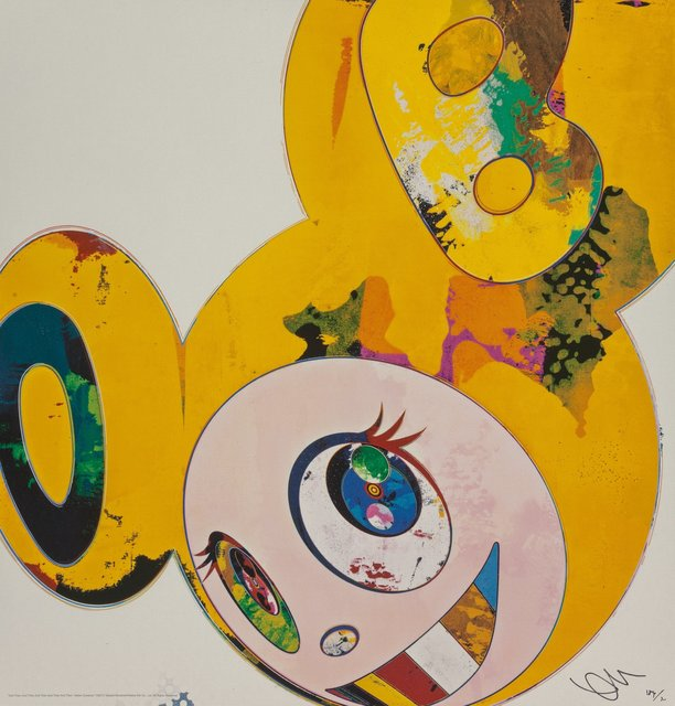 Takashi Murakami, 'And Then x 6 (Yellow Universe)', 2013, Print, Offset lithograph in colors on smooth wove paper, Heritage Auctions