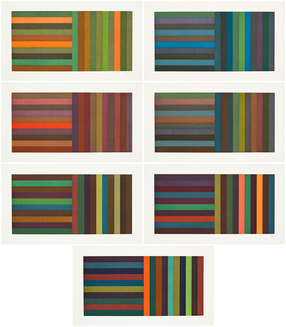 , 'Horizontal Color Bands and Vertical Color Bands,' 1991, Pace Prints