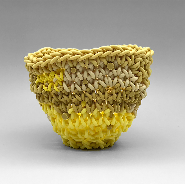 Jeremy Brooks, 'Knot Cup #61', 2020, Sculpture, Crocheted colored porcelain, Duane Reed Gallery