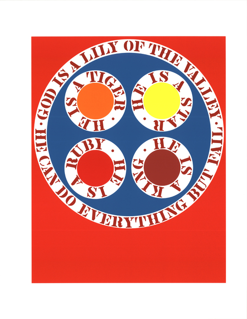 Robert Indiana, 'God Is Lily of the Valley', 1997, ArtWise