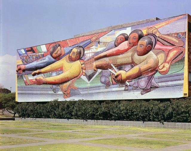 David Alfaro Siqueiros, 'The People to the University, the University to the People', 1952-1956, Mixed Media, Relief Mosaic, Art Resource