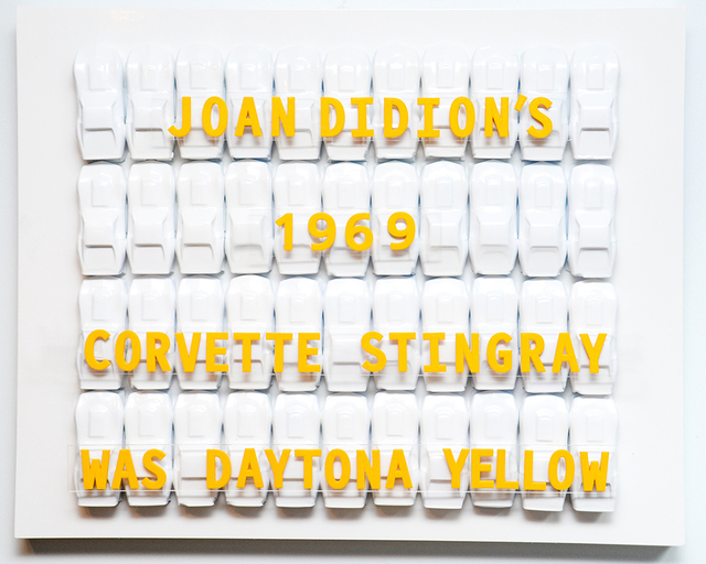 , 'Didion's Daytona Yellow,' 2017, The Untitled Space