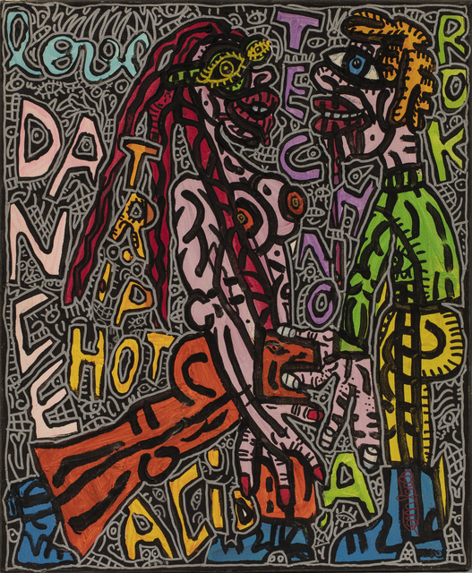 Robert Combas, 'LOVE DANCE TRIP HOT TECHNO ROCK ACID', 1995, David Pluskwa