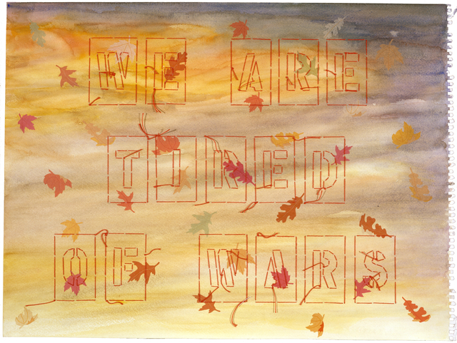 Ghada Amer & Reza Farkhondeh, 'We are Tired of Wars', 2005, KEWENIG