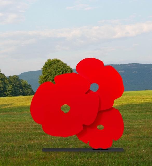 Donald Sultan, 'Big Red Poppies, 2016', 2016, Sculpture, Painted Aluminum, ARC Fine Art LLC