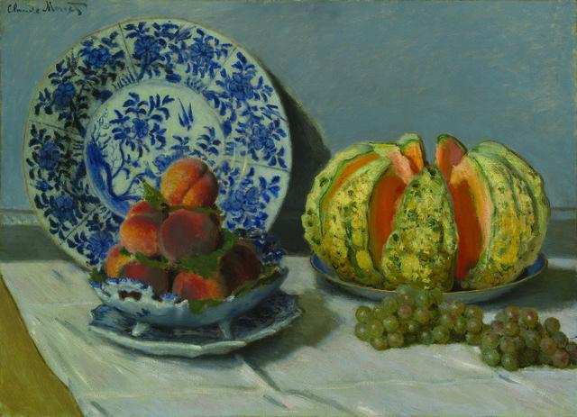 , 'Still Life with Melon,' 1872, Legion of Honor