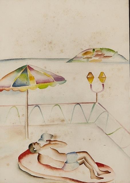 , 'Man on Beach,' , AkaraArt
