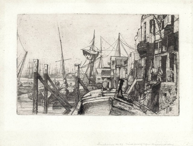 James Abbott McNeill Whistler, 'Limehouse', 1859, The Fine Art Society