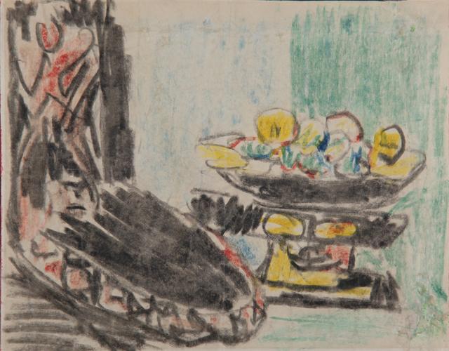Ernst Ludwig Kirchner, 'Stilleben neben geschnitztem Stuhl ', 1909, Henze & Ketterer