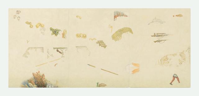 , 'Tríptico 1. Fragmentos de México hoy y mañana (Diego Rivera),' 2016, Proyecto Paralelo